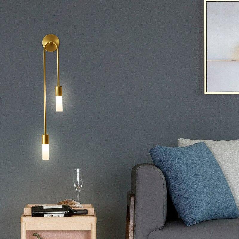 Luminária de parede moderna, estilo nórdico, luminária