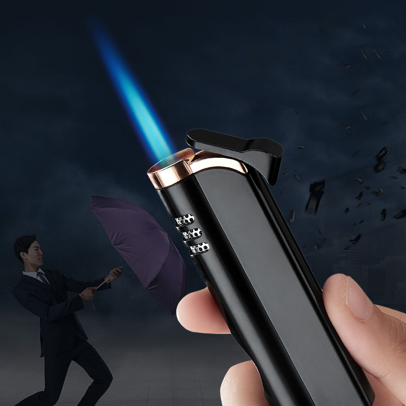 2019 New Metal Gas Lighter Torch Lighter Cigarettes Lighter Gadgets For Men Electronic Lighters Smoking Accessories