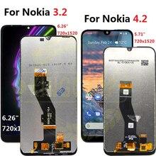 Digitalizador touchscreen para nokia 3.2, display de substituição para nokia 1156, lcd ta 1159 1164 4.2 1184, 1133,1149,
