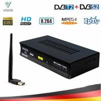 DVB-T2 DVB-S2 combo sintonizador de tv com usb wifi hd  receptor de tv por satélite digital  suporte iptv dolby ac3 cccam terrestrial tv caixa de caixa