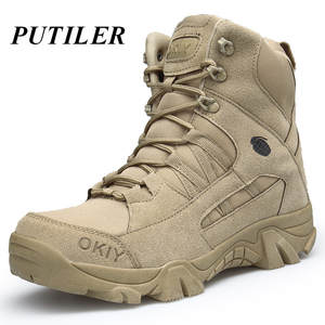 Man Boots Bot Men Shoes Combat Military Army Hunting Tactical Outdoor Genuine-Leather