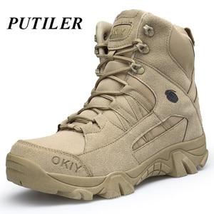 Мужские военные ботильоны из натуральной кожи, армейские рабочие ботинки для охоты, повседневная обувь, 2020