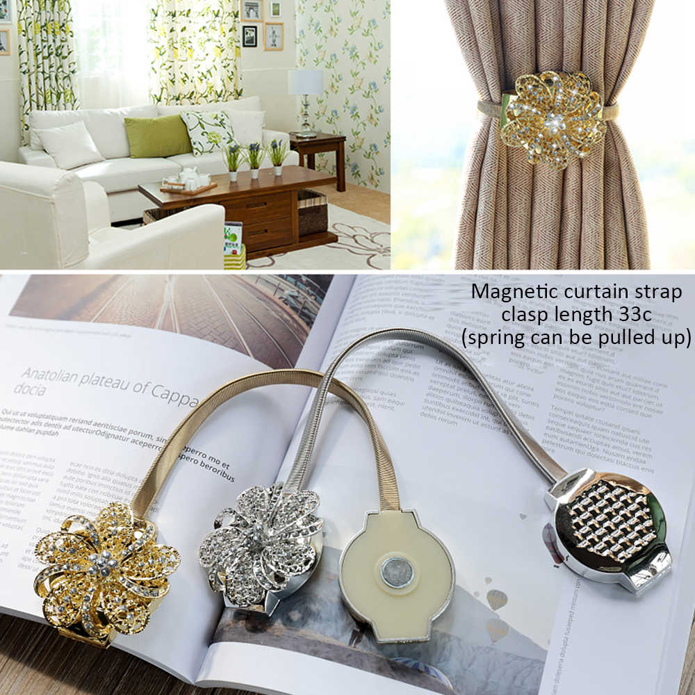 Curtain Tieback Flower Shaped Magnetic
