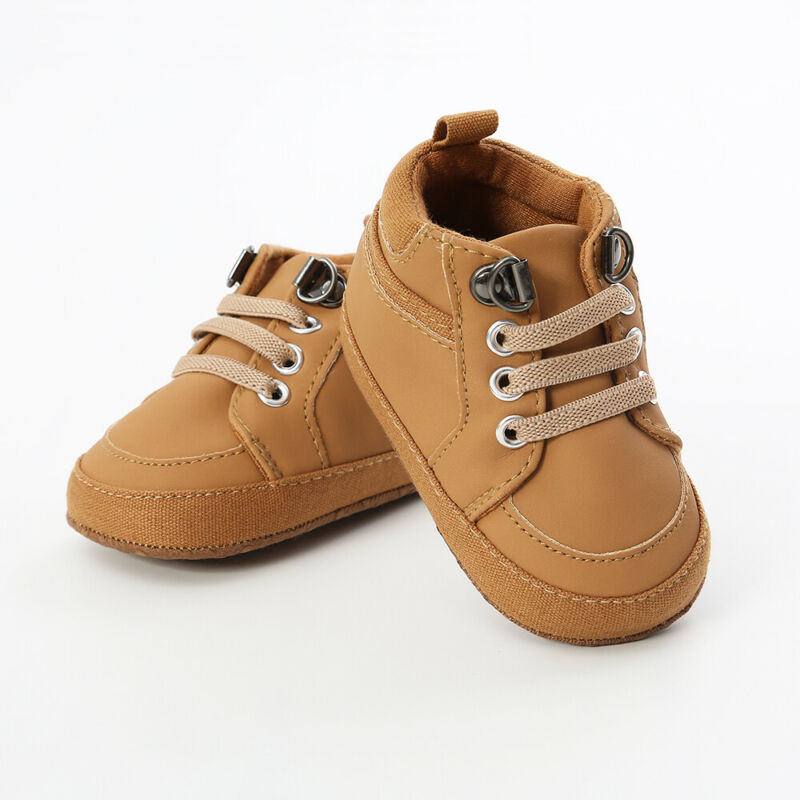 Infant Baby Boy Girl Soft Sole Crib Newborn Non-slip Shoes Sneaker 0-18 Months Leather Crib Shoes Sneakers Prewalker 11 12 13