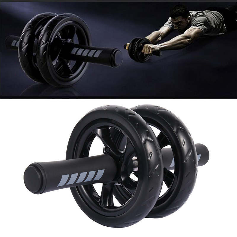 Abdominal Fitness Roller Muscle Exercise Equipment Double Wheel Ventral Power Wheel Home Gym Roller Trainer Training