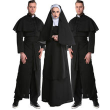 2020 Nuovo Costume di Halloween Per Adulti Mens Sacerdote e Signore Sorella Nun Fancy Dress Religiosa Cattolica Costume Outfit Anime Cosplay(China)