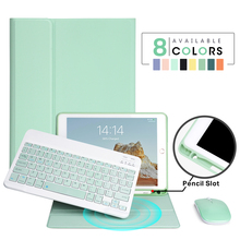 Funda para teclado para iPad Air 1, 2, 3 Pro, 9,7, 11, 2017, 2018, 2019, 10,2, 9,7, 10,5, 5th, 6th, 7ª generación, Bluetooth