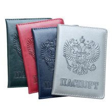Russian Passport Cover Women Passport Case Men Travel Passport Holder Leather Credit Card Holder  ID&Document Card Case
