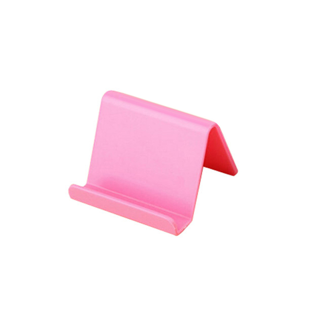 1pcs Universal Plastic Phone Holder Stand Base For IPhone 8 X For Samsung For Xiaomi Smartphone Candy Color Mobile Phone Bracket 1