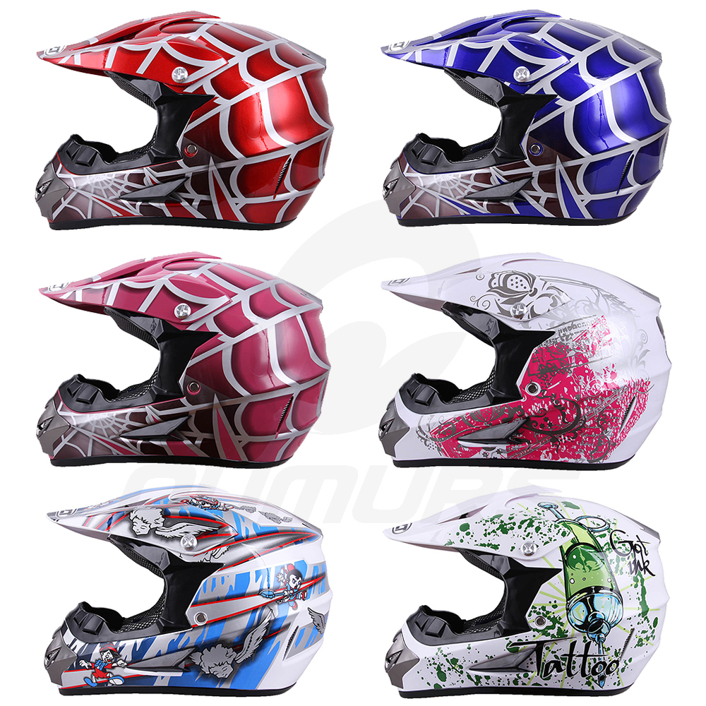 OUMURS DOT Cool Web Style Motorcycle Children Helmet 1