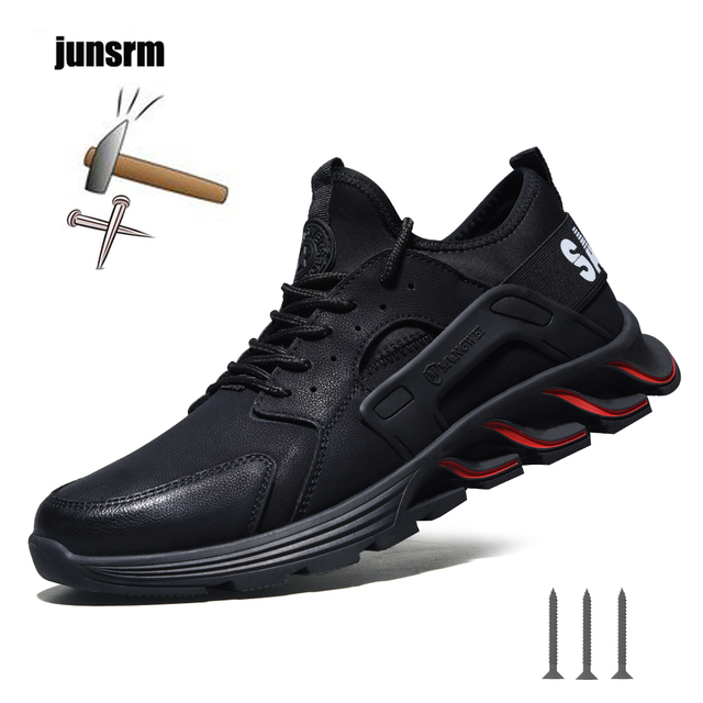 New winter solid safety shoes steel head anti smashing stab resistant work shoes breathable protection toe