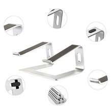 Portable Aluminum Laptop Stand Holder Ergonomic Elevator Metal Riser for 10-17 Inch Mac MacBook Pro Air Apple Notebook PC Deskto