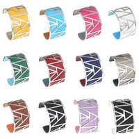 Bracelets Cremo pour femmes Bracelets en acier inoxydable Manchette en cuir Argent Bracelet Manchette Femme Armreifen cadeau fille