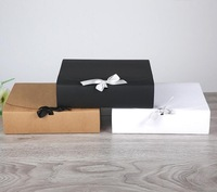 31*25.5*8cm large brown paper gift box big size kraft cardboard boxes large size white paper box for T shirt 15pcs/lot