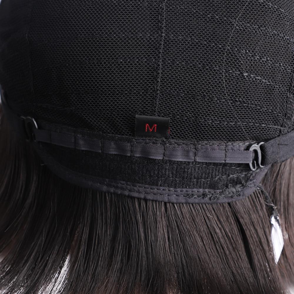 Onyx curto 10 polegada sintético bob peruca