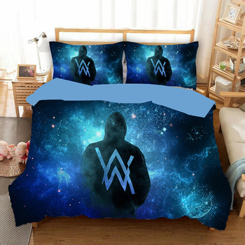 New Game alan wake Silhouette Starry Sky 3D blue Bedlinen Duvet Cover set Space Theme Twin Full Queen King Size Bedding Set