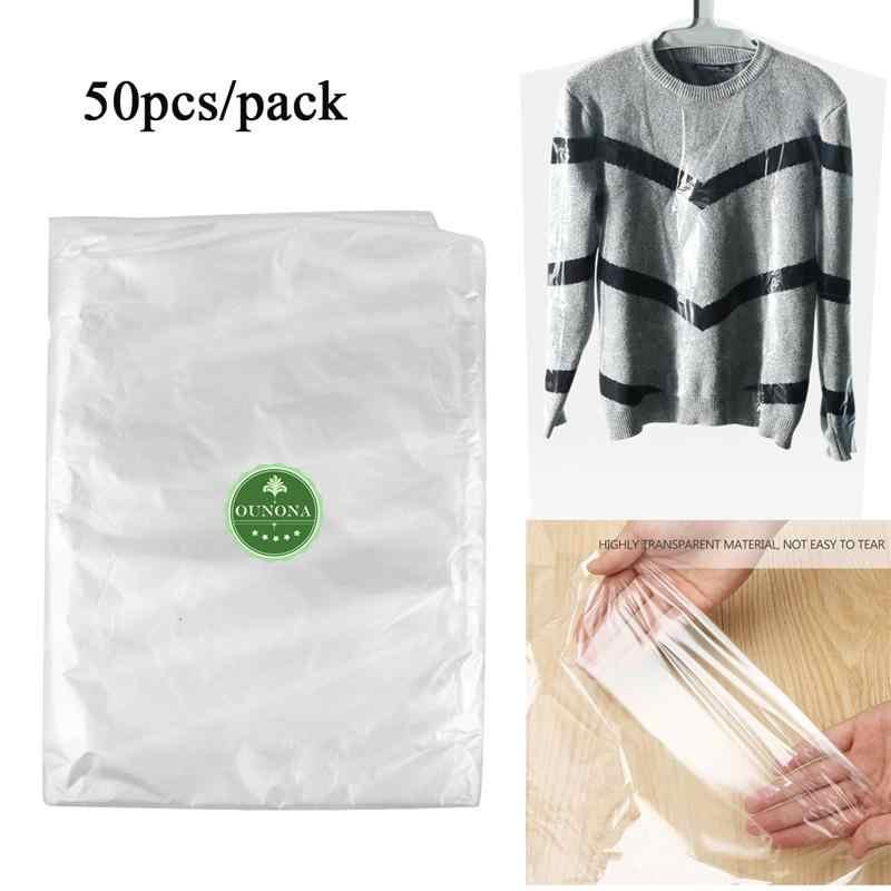 Tininna de 60/x 90/cm impermeables Fundas desechables transparentes para proteger la ropa colgada del polvo