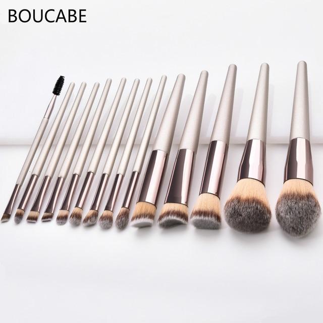 4-14pcs Makeup Brushes Set For Foundation Powder Blush Eyeshadow Concealer Lip Eye Make Up Brush With Bag Cosmetics Beauty Tools 2