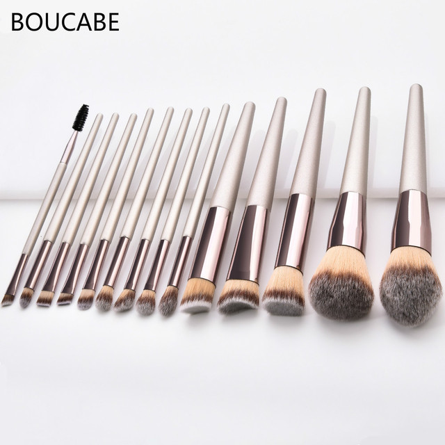 4-14pcs Makeup Brushes Set For Foundation Powder Blush Eyeshadow Concealer Lip Eye Make Up Brush With Bag Cosmetics Beauty Tools 1