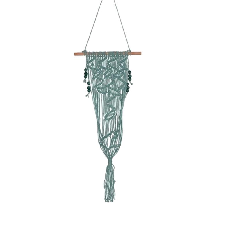 1Pcs 110X35Cm Tassel Weaving Hanging Bohemian Handmade Fdit Tapestry Tassel Flower Pot For Home Decor Living Room Wedding