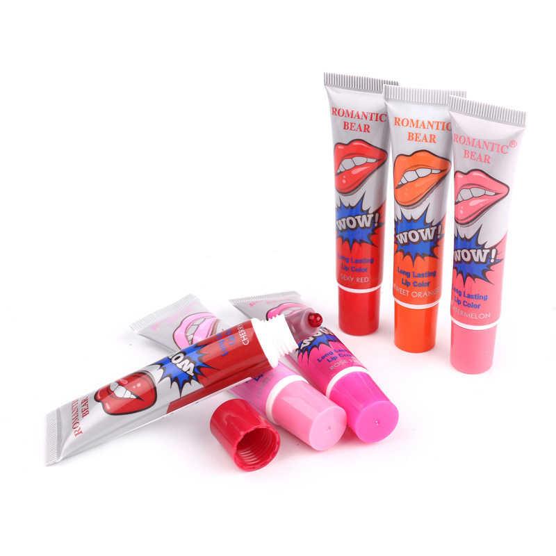 6 צבעים גליטר נוזל שפתון שנמשך עמיד למים לחות צבעים בוהקים מדמיע גלוס איפור סקסי קוסמטיקה שפתיים ערכת TSLM2
