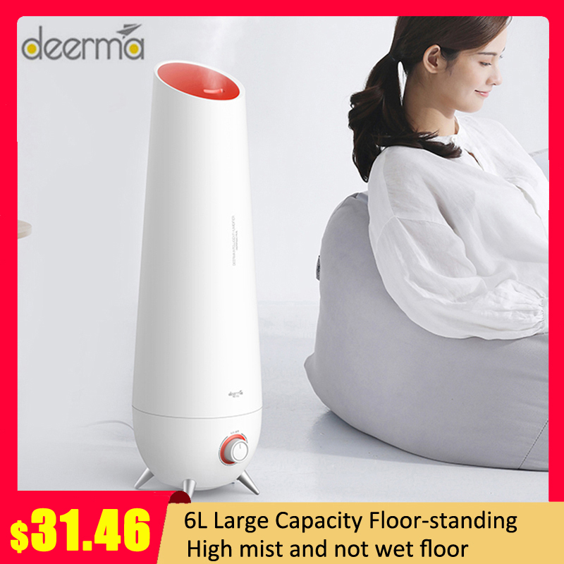 Newest Xiaomi Deerma LD610 6L Air Humidifier Ultrasonic Aromatherapy Air Diffuser Cool Mist Air Humidifier Household Low Noise
