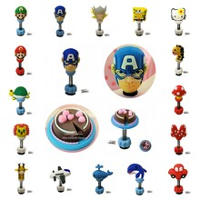 1pcs Spring/Standing 3D Shoe Charms Super Heroes Crocse Charms Shoe Accessories Kids Gifts Jibz Cute