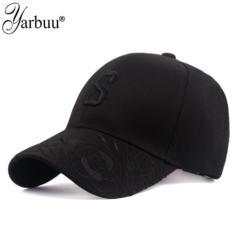 [YARBUU] 2020 New brand   baseball     caps   Women Lady Flowers Embroidered Hat Adjustable Casual Snapbacks   cap   letter casquette   caps