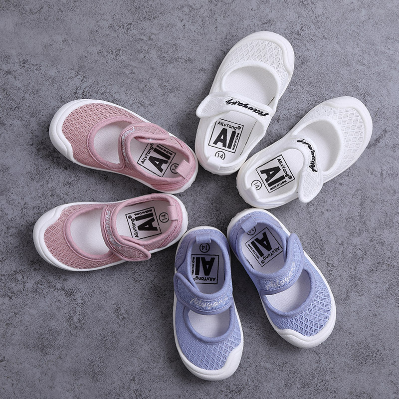 2020 Spring And Summer New Breathable Comfortable Single Shoes Square Mouth Casual Baby Toddler Children Shoes