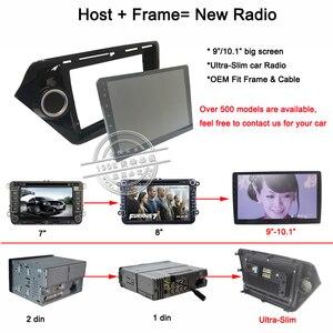 Image 5 - HACTIVOL 2 Din Car Radio face plate Frame for Citroen C Quatre 2004 2009 Car DVD GPS player panel dash mount kit car accessories