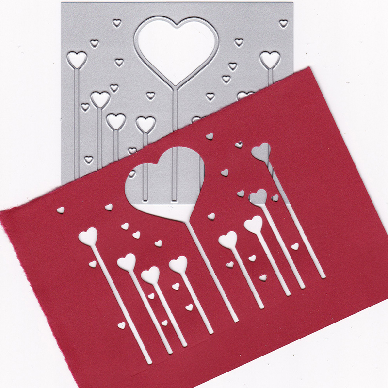 love shape balloons scrapbook cutting dies metal die cuts for scrapbooking#decor