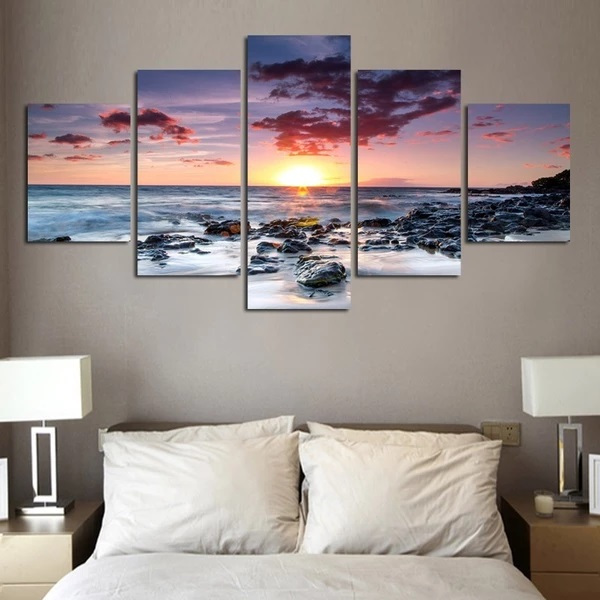 Modular-Pictures-Wall-Artwork-Poster-HD-Printed-5-Panel-Seascape-Canvas-Painting-Landscape-Home-Decoration-Living