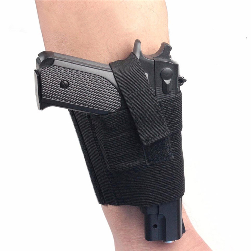 Tactical Concealed Carry Ankle Holster Universal Military Leg Pistol Gun Holster Elastic Handgun Pouch Hunting Accessories image