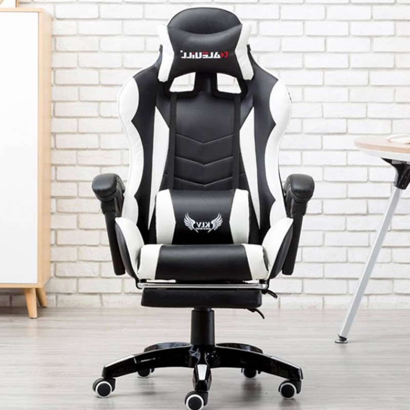 fotel gamingowy z wysokim oparciem