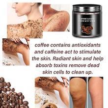 1Pcs 250g Coffee Scrub Body Scrub Cream Salt For Exfoliating Anti Acne Body Supplies Whitening Cellulite Treatment Moisturi P6X2
