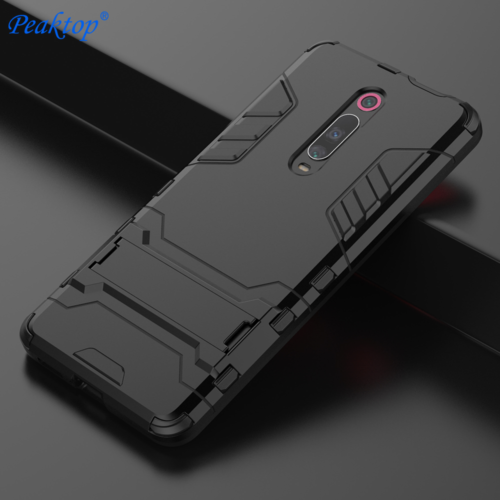 For Cover Xiaomi Mi 9T Case Shockproof Armor Hard Cover For Xiaomi Mi9t Silicone Stand Phone Bumper Case For Xiaomi Mi 9 T Cover