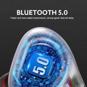 Image 4 - 最新のワイヤレスbluetooth V5.0イヤホン3Dステレオヘッドセットネックバンドスポーツットヘッドホンイヤホンイヤフォン低音in 耳のmicとすべて電話