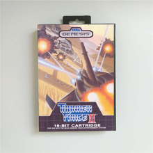 Thunder Force II 2   USA Cover With Retail Box 16 Bit MD Game Card for Sega Megadrive Genesis Video Game Console