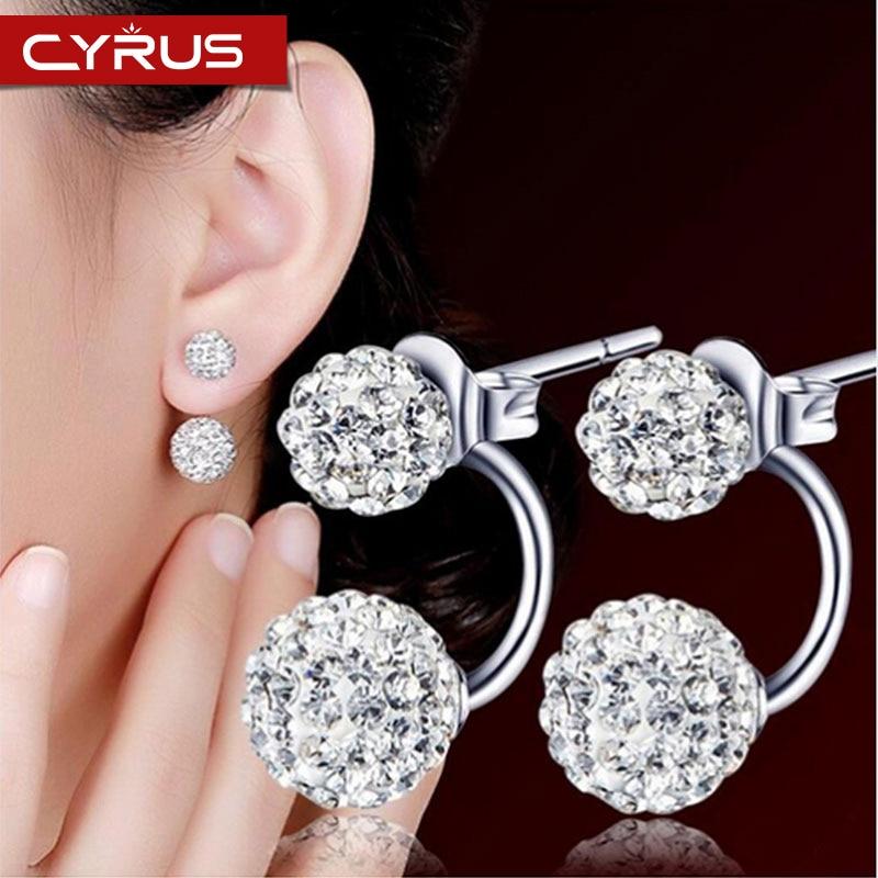 Crystal Ball Shambhala Ball Dangle Earrings Anti Allergy Multicolor Multiple Wearing Modes Ball Earrings Fine Boho Jewelry Gift(China)