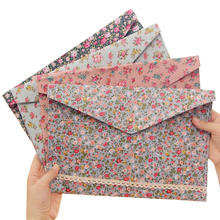 Files Folder Stationery Documents Flower Learning-Material Vintage School Portable A4