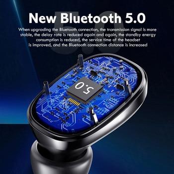 TWS Wireless Bluetooth Headphones HD Mirror Screen LED Display Earphones with 3500mAh Charging Box 9D HIFI Stereo Earbud Headset 6