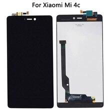 ل Xiao mi mi 4c لوحة شاشة لمس مع عرض محول الأرقام الجمعية ل mi 4C LCD اللمس الاستشعار
