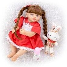 Bebes reborn baby girl doll 55cm vinilo de silicona suave adorables bebé muñecas juguetes para niños regalos sorpresa de Navidad l ¡! o l muñeca