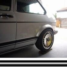 Для 1 комплекта/2 шт. VW MK1 Spec Golf stripes 2200 мм негабаритный также подходит транспортер MK2 Jetta VW T5 автомобильный Стайлинг