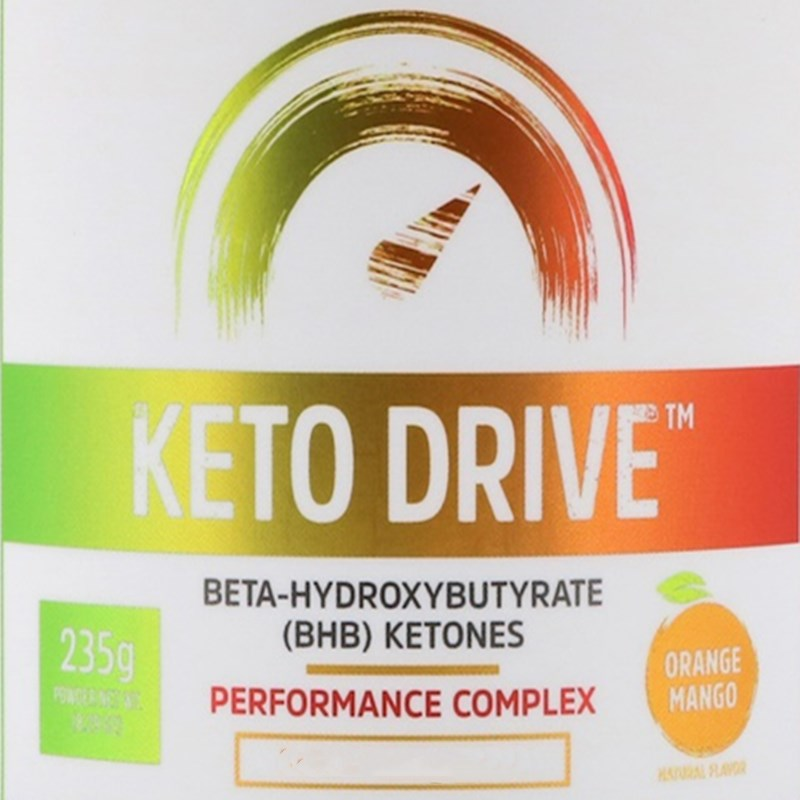 Keto Drive, Keto Drive, Fa t burning, energy, Orange and mango, 8.29 oz (235 g)