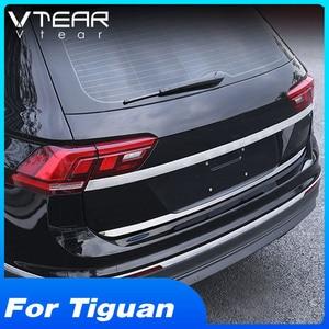 Image 1 - Vtear для VW Tiguan тигуан 2020 2019 2018 задний багажник отделка двери Наружные молдинги аксессуары из нержавеющей стали Автоматическая задняя дверь защита,автомобильные товары