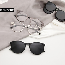 X106 bauhaus metal bastidor para el imán gafas para hombre o mujer