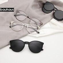 X106 bauhaus metal magnet frame glasses for man or woman