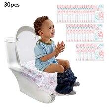 Одноразовые водонепроницаемые чехлы для унитаза, бумажные, большие размеры, портативные защитные приспособления для горшка для детей, беременных женщин, общий туалет