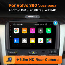Автомагнитола AWESAFE PX9 для Volvo S80 2004-2006, мультимедийный видеоплеер с GPS-навигацией, 2 din, 2 din, DVD, Android 10